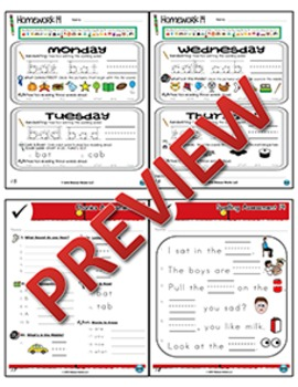 Kindergarten Phonics and Spelling Zaner-Bloser Week 14 (B) {TEKS-aligned}