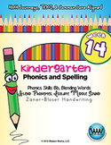 Kindergarten Phonics and Spelling Zaner-Bloser Week 14 (B)