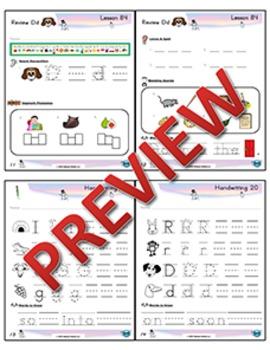 Kindergarten Phonics and Spelling Zaner-Bloser Week 20 (Review Ĭ, G, R, D)