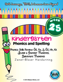 Kindergarten Phonics and Spelling Zaner-Bloser Week 25 (Ŏ,