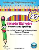 Kindergarten Phonics and Spelling Zaner-Bloser Week 27 (L, W) {TEKS-aligned}