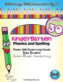 Kindergarten Phonics and Spelling Zaner-Bloser Week 30 (Long Ā, Ē, Ī, Ō, Ū)