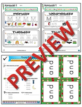 Kindergarten Phonics and Spelling Zaner-Bloser Week 4 (M)
