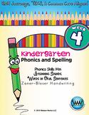 Kindergarten Phonics and Spelling Zaner-Bloser Week 4 (M)
