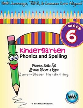 Kindergarten Phonics and Spelling Zaner-Bloser Week 6 (Short Ăă) {TEKS-aligned}