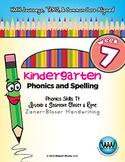 Kindergarten Phonics and Spelling Zaner-Bloser Week 7 (T) {TEKS-aligned}