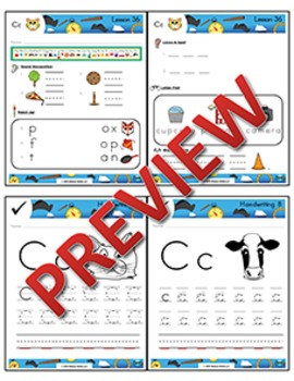 Kindergarten Phonics and Spelling Zaner-Bloser Week 8 (C) {TEKS-aligned}