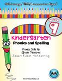 Kindergarten Phonics and Spelling Zaner-Bloser Week 9 (P) {TEKS-aligned}