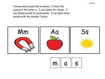 Kindergarten Phonics lesson Unit 2 letter s for the mimio