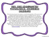 Kindergarten Phonological Awareness Calendars 2020-2021