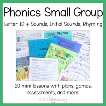 Kindergarten Phonological Awareness: Small Group Mini Lessons 1-20