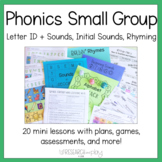 Kindergarten Foundational Skills Small Group Mini Lessons Set 1