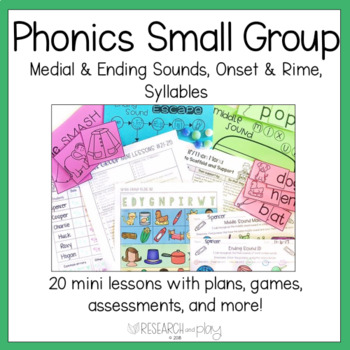 Kindergarten Phonological Awareness: Small Group Mini Lessons 21-40