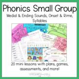 Kindergarten Phonological Awareness: Small Group Mini Less