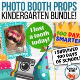 Kindergarten Photo Booth Props: Back to School, 100th Day, Birthday, Lost Tooth