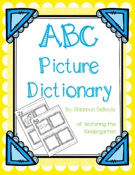 Kindergarten Picture Dictionary Worksheets & Teaching ...