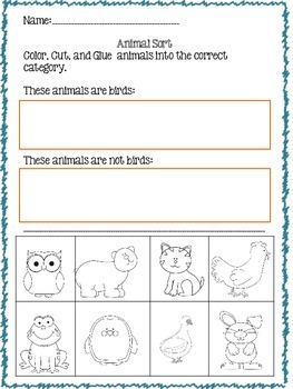 Kindergarten Picture Sorts--Variety of Topics