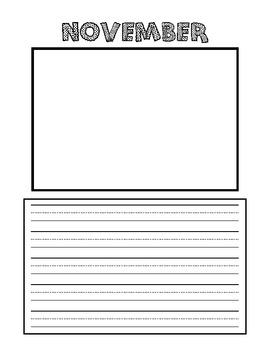 Kindergarten Picture Writing Book