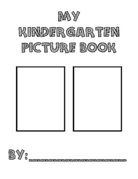 Kindergarten Picture Writing Book