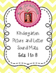 Kindergarten Picture and Letter Sound Mats PSF LNF