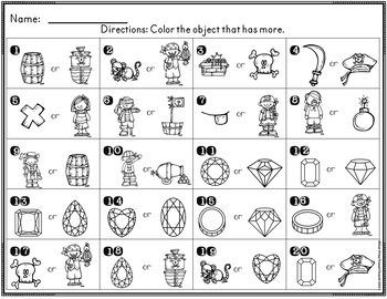 Kindergarten Pirate Math Task Cards