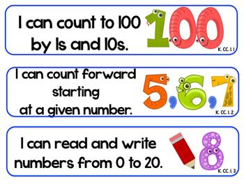 Kindergarten Pirate Standards COMMON CORE Florida