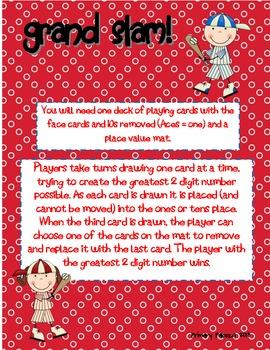 Kindergarten Place Value Game