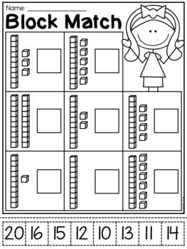 kindergarten place value worksheets by my teaching pal tpt. Black Bedroom Furniture Sets. Home Design Ideas