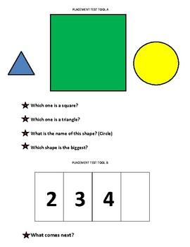 Kindergarten Placement Test