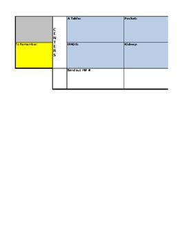 Kindergarten Plan Book Outline