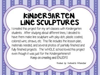 Kindergarten Play-Doh Line Sculptures