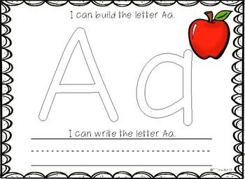 Kindergarten Play-doh ABC Center