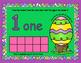 Kindergarten Playdough Math Center Number Mats - Ten Frames - Easter Theme