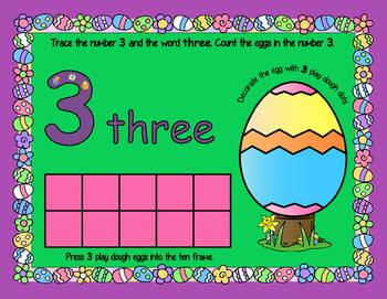 Easter Playdough Math Mats - PreK & Kindergarten