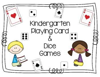 Kindergarten Playing Card & Dice Games FREE