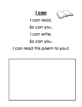 Kindergarten Poem Book