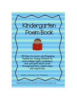 Kindergarten Poem Book