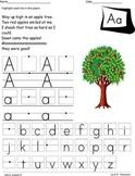Kindergarten Poetry Notebook letter handwriting Houghton Mifflin Journeys