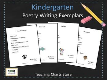 Kindergarten Poetry Writing Exemplars (Lucy Calkins Inspired)