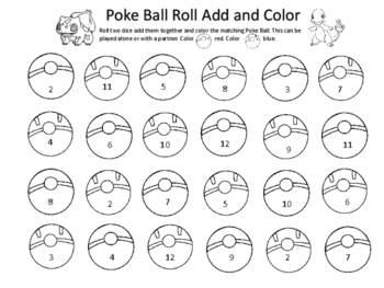 Magic image in pokemon math worksheets printable