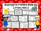 Pokemon Math and Literacy Pack 2 Kindergarten