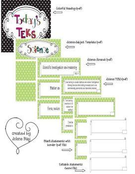Kindergarten Polka Dot Themed Science TEKS Statement Posters