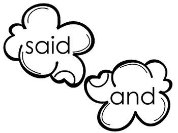 Kindergarten Popcorn Words