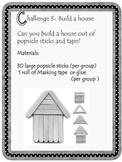 Kindergarten Popsicle Stick STEM Challenge