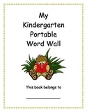 Kindergarten Portable Word Wall for Reading and Writing (D