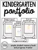 Kindergarten Portfolio: Beginning, Middle, End of Year (Track student progress)