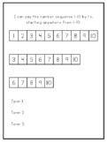 Kindergarten Portfolio Assessment Pages