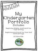 Kindergarten Portfolio Beginning, Middle, End of the Year Writing