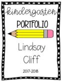 Kindergarten Portfolio Cover