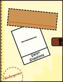 Kindergarten Portfolio Cover Page